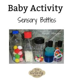 I made these bottles for N to look at, hold,shake, and of course put in her mouth. So far they just go right in her mouth, but I think that as she gets older she wil