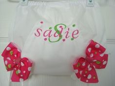 Sadie Personalized Diaper Cover - Sizes 1 thru5 by sewcrafts on Etsy https://www.etsy.com/listing/56259683/sadie-personalized-diaper-cover-sizes-1