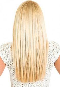 Lange haare stufen glatt