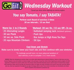 Printable version of this fun Tabata workout! Go here for video examples of Kettlebell Jumping Jacks & High Knee Toe Taps: http://youtu.be/IslGdza73uglist=UUa5AM2ROxPXRE7xxSlqWmLg