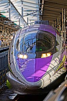 JR西日本 500系 新幹線 エバァンゲリオン Escala Ho, Japan Train, Future Transportation, Rail Train, High Speed Rail, Bonde, Japanese Landscape, Rail Car, Electric Train