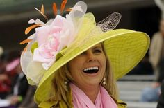 Kentucky Derby Hat - Pink flower