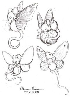 Fairy-mouse sketches by Amarathimi on DeviantArt Fairy-mouse sketch. - Fairy-mouse sketches by Amarathimi on DeviantArt Fairy-mouse sketches by Amarathimi - Art Drawings Sketches, Animal Drawings, Cute Drawings, Fairy Drawings, Pencil Drawings, Fairy Wings Drawing, Fantasy Drawings, Doodle Drawings, Tattoo Sketches