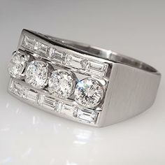 Men's Diamond Ring in Platinum