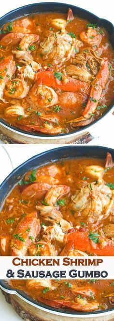 Chicken and Shrimp Gumbo Cajun Recipes, Fish Recipes, Seafood Recipes, Soup Recipes, Chicken Recipes, Cooking Recipes, Healthy Recipes, Gumbo Recipes, Nola Gumbo Recipe