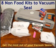 8 Non Food Kits to Vacuum Seal