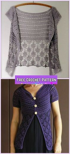 Crochet Ariane Cardigan Free Pattern for Women