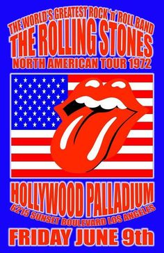 The Rolling Stones Concert Poster https://www.facebook.com/FromTheWaybackMachine