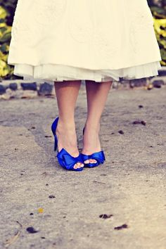 something blue wedding shoes wedding-inspirations Royal Blue Wedding Shoes, Royal Blue Shoes, Wedding Blue, Something Blue Wedding, Maui Weddings, Retro Weddings, Destination Weddings, Peep Toe, Teal