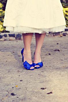 Chaussures de mariage / blue wedding shoes