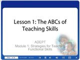 Online training modules for teaching skills and positive behavior strategies