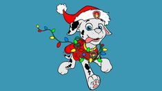 Paw Patrol Coloring Pages for Kids ► Paw Patrol Coloring Games ► Paw Patrol Marshall Christmas Coloring Book