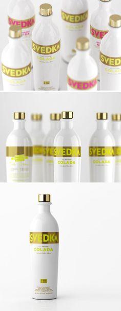 //Svedka Vodka// Liquor Drinks, Wine And Liquor, Cocktail Drinks, Beverages, Cocktails, Beverage Packaging, Food Packaging, Brand Packaging, Package Design