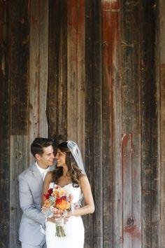 Rustic Virginia Vineyard Wedding Portrait