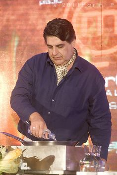 Matt Preston cooking, when he came to India