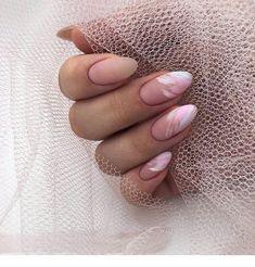 White and pink design - medium nails - ChicLadies.uk