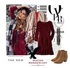 """Winter Wanderlust with American Eagle: Contest Entry"" by cirja-georgiana ❤ liked on Polyvore featuring American Eagle Outfitters, Envi and aeostyle"
