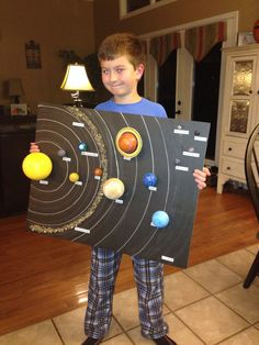 Aidan with solar system project #5thgradescience #5th #grade #science #solar #system Solar System Model Project, Solar System Projects For Kids, Solar System Activities, Space Projects, Science Activities, School Projects, Solar System Science Project, Solar System Crafts, Build A Solar System