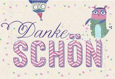 Danke schön - Mini Cards - Grafik Werkstatt Bielefeld