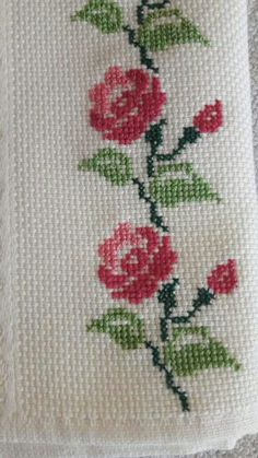 This Pin was discovered by Gül Mini Cross Stitch, Cross Stitch Rose, Cross Stitch Borders, Cross Stitch Alphabet, Cross Stitch Charts, Cross Stitch Designs, Cross Stitching, Cross Stitch Embroidery, Cross Stitch Patterns