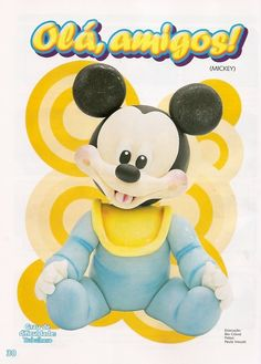 ARTESANATOS PASSO A PASSO: Baby disney em biscuit (mickey)