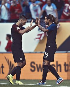 Clint Dempsey and Jermaine Jones.