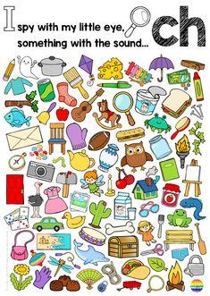 Digraph Sound Mazes + I Spy Games - CH PH SH TH WH SOUND BUNDLE Language Games For Kids, English Activities For Kids, Games In English, English Grammar Games, Literacy Games, Phonics Activities, Ch Words, Ch Sound, I Spy Games