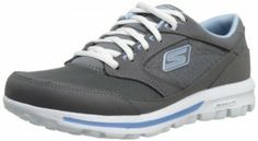 Skechers Women's Go Walk Baby Walking Shoe,Charcoal/Blue,8.5 M US