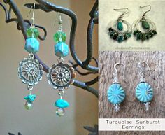 DIY Statement Turquoise Earrings Tutorial