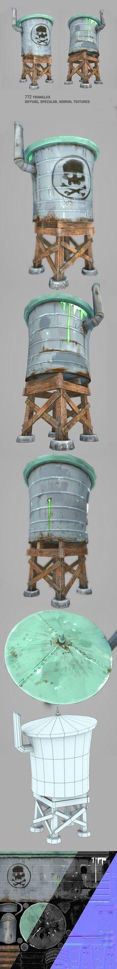3D Models - Water Tower | 3DOcean