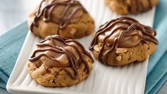 Thirty fabulous peanut butter cookies filled with both a dreamy peanut butter filling and a sweet chocolate drizzle.