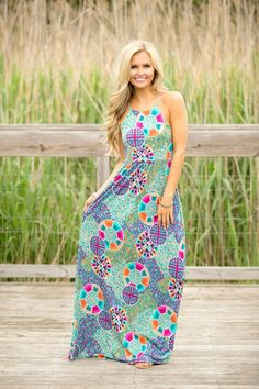 Lost Treasures Maxi Dress - The Pink Lily
