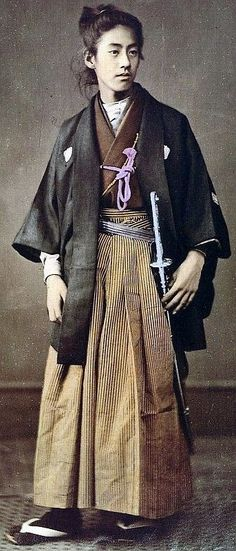 Prince Okundaira, in formal Haori, ca. 1870's by Felice Beato.: