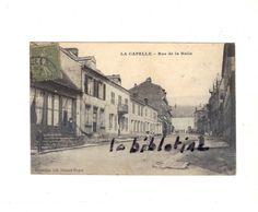 CPA ANIMEE - LA CAPELLE (02) - RUE DE LA HALLE - 1919