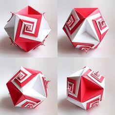 Spiral Cubooctahedron (Tomoko Fuse) | Flickr - Photo Sharing!