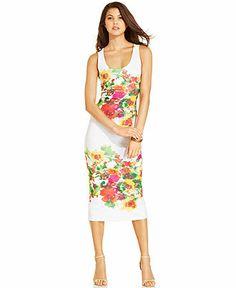 XOXO Scoop-Neck Floral Midi Dress.