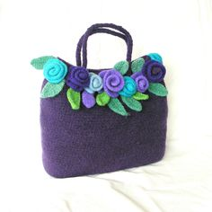 Felt Rose Bag Crochet Pattern Tutorial pdf Crochet by GraceG2. $12.50, via Etsy.