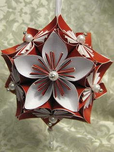 Stamp N Design: Kusudama Flower U0026 Ornament   Tutorial On Website. Flower OrnamentsPaper  Christmas ...