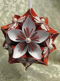 Stamp-n-Design: Kusudama Flower & Ornament - Tutorial on website