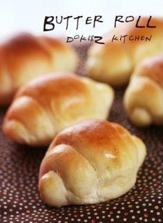 HBで♡基本のパン生地♥バターロール
