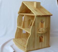 Casa de muñecas de madera hecho a mano por Sukhanov en Etsy