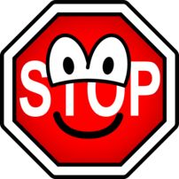 Stop sign emoticon