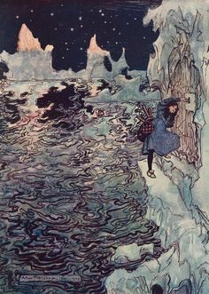 The Fairy Tales of the Brothers Grimm Illustrated by Arthur Rackham Translated by Mrs. Edgar Lucas. Constable & Company Ldt London. .1909. The Seven Ravens The good little Sister cut off her own tiny...