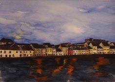 'Moonlit Long Walk - Galway' by Fiona Concannon on ArtClick. Moonlight, Ireland, Walking, Artist, Painting, Painting Art, Walks, Irish, Paintings