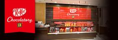 """KIT KAT Chocolatory  """"KIT KAT Chocolatory"""" is a KIT KAT specialty shop under the complete supervision of the chef and owner of the popular patisserie """"Le Patisserie Takagi"""", Yasumasa Takagi."""