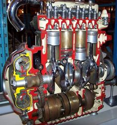 A series automatic Engine Marine Engineering, Mechanical Engineering, Mécanicien Automobile, Red Mini Cooper, Engine Working, Automotive Engineering, Combustion Engine, Car Engine, Machine Design