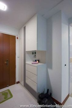 BEhome Design Concept SengKang 3 room HDB- Shoe Cabinet 2 would love a shoe cabinet and little nook for keys and letters