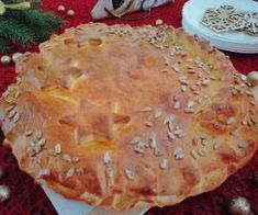 Krucho-drożdżowe sakiewki z jabłkami - PrzyslijPrzepis.pl Pie, Desserts, Food, Torte, Tailgate Desserts, Cake, Deserts, Fruit Cakes, Essen