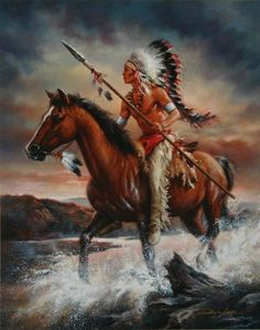 Native Americans Indians Braves by Russ Docken