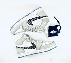 Dior x Jordan 1 High Exclusive Sneakers, Best Brand, Jordan 1, Nike Air Force, Dior, Kicks, Street Wear, Sneakers Nike, Shopping